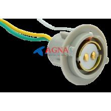 PN15 Патрон заднего фонаря Lanos, Sens 2-контактный серый (цокольн.) с проводом