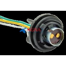 PN13 Патрон заднего фонаря Lanos, Sens 2-контактный черный (цокольн.) с проводом