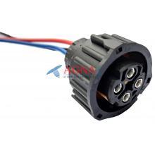 RP223 Разъем 1-1813099-1 9673251 Камаз Маз Зил Паз Краз Урал байонетный серии 2.5 для датчика скорости, заднего фонаря 4-конт.