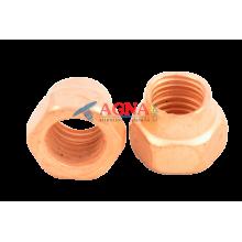 Гайка приемной трубы (медь) 10х1,25 ВАЗ 2110
