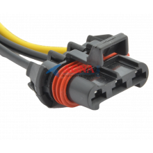 RP374 Разъем 3-х контактный аналог Delphi 12124685 для вентилятора радиатора Hella охлаждения двигателя Гранта, Калина, Датсун