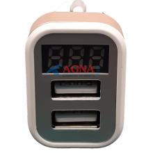 Штекер прикуривателя 2 USB 12V-24V с индикатором