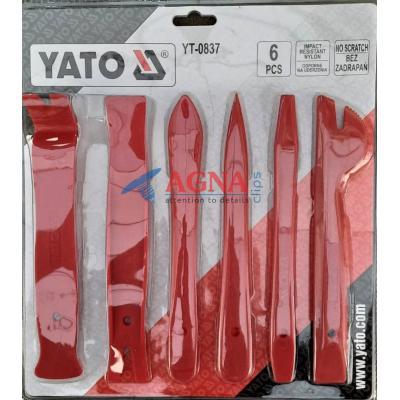 Набор для снятия клипс и обшивок YATO (6pcs)