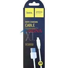 Кабель USB-L Hoco X1 Rapid Lighting 1m white