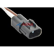 RP373 Разъем 2-х контактный серии 2,8мм для вентилятора радиатора CHEVROLET LACETTI