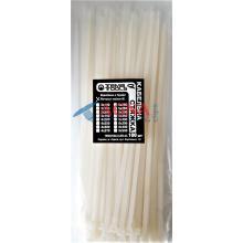 Стяжки кабельные 5x250 мм. белые