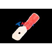 MDD 1,25-250 Клемма 6,3 мм. штырьевая (папа) в изоляции красная