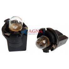 PN5K Патрон с лампой T4W 12V3W (ВА9s) в панель приборов ВАЗ 2101,03,06 / 2410 цоколь