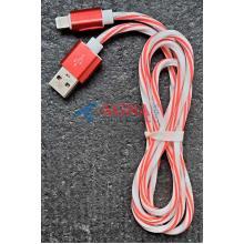 Кабель USB-L  Lighting ( витой) red (тех пакет)