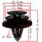 C 1129 Клипса обшивки двери, багажника, задняя полка Nissan / Infiniti D=13.0, M=15.9, T=18.0, H=20.5, F=8.9  84953AU100 / 80999VE000