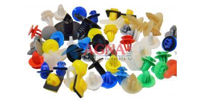 Пластиковые крепежные элементы (клипсы, пистоны, андапки, держатели)